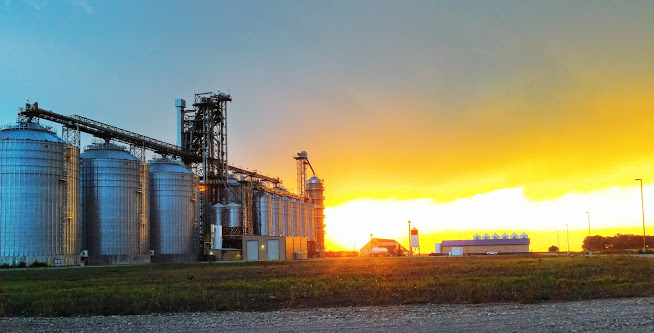 Arthur Companies Grain Elevator in Sunset
